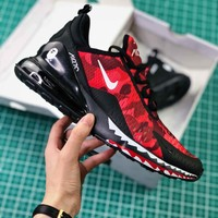 A Bathing Ape X Nike Air Max 270 Bape Camo Red Ah6799-016 Sport Running Shoes - Best Online Sale