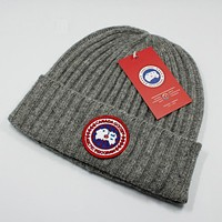 """Moncler"" Classic Trending Women Men Stylish Knit Hat Warm Cap Grey"