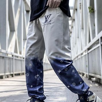 LV 2020 new product tie dye gradient guard pants trousers