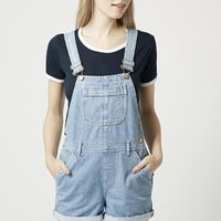 PETITE MOTO Bleach Short Dungarees - Rompers & Jumpsuits - Clothing