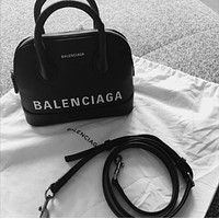 Balenciaga VILLE TOP HANDLE Small graffiti logo calfskin bag