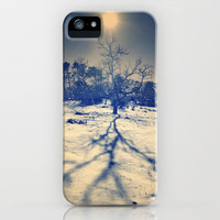 Winter sun. Vintage iPhone Case by Guido Montañés