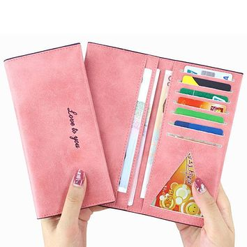 1pcs Candy Color Wallets & Purses Women Leather Genuine Small Famous Brand for Credit Cards Cards Holder Clutch Fashion Standard