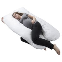 Pregnancy Pillow, Full Body Maternity Pillow with Contoured U-Shape by Lavish Home, Back Support