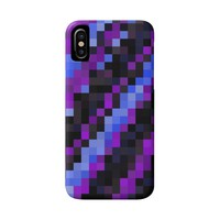 Black Purple and Blue Pixels | Christy Leigh Creative