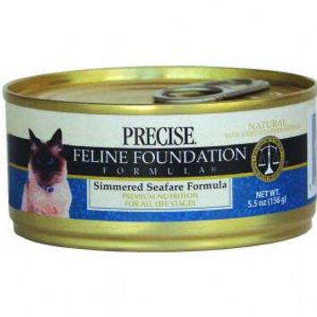 Precise Feline Simmered Seafare Can Cat Food
