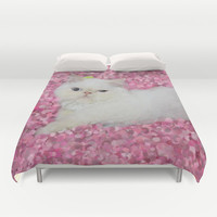 Lord Aries Cat Duvet Cover by AFrancisconi