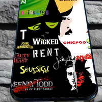 Broadway Musical Collage for iPhone 4/4s, iPhone 5/5S/5C/6, Samsung S3/S4/S5 Unique Case *76*