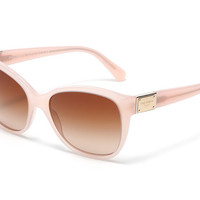 Women's pink acetate sunglasses with cat-eye frame by Dolce & Gabbana dg4195