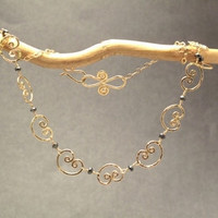 Necklace 323 - choice of stone - GOLD