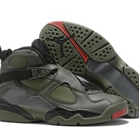 Air Jordan 8 Retro Army Green/Black Size 40-47