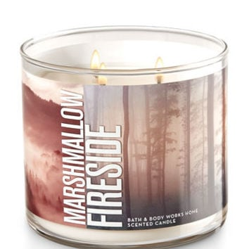 MARSHMALLOW FIRESIDE3-Wick Candle