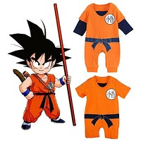 Dragon Ball Baby Rompers Newborn Baby Boys Clothes SON GOKU Toddler Jumpsuit Bebe Halloween Costumes For Baby Boy Girl Clothing