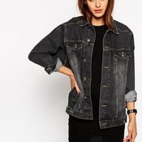 ASOS Denim Black Western Jacket