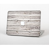 """The Aged White Wood Planks Skin Set for the Apple MacBook Pro 13"""" with Retina Display"""