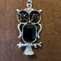Black Owl Necklace