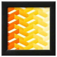 Art.com Retro Zigzag Pattern - Framed Art Print