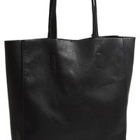 Junior Women's Street Level Structured Faux Leather Tote