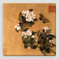 Butterfly and Magnolias Wall Art - World Market