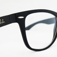 Nerd Big Rayban Wayfarer RB2140 Eyeglass Sunglasses Eyeware Black Ray ban from Sunglass Mania