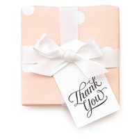 """Thank You"" Calligraphy Gift Tags"