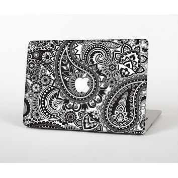 The Black and White Paisley Pattern V6 Skin for the Apple MacBook Air 13""