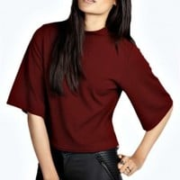 Alice Turtle Neck Wide Sleeve Swing Top - Essentiels D'hiver - Collections