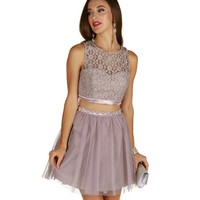 Carissa-champagne Two Piece Prom Dress