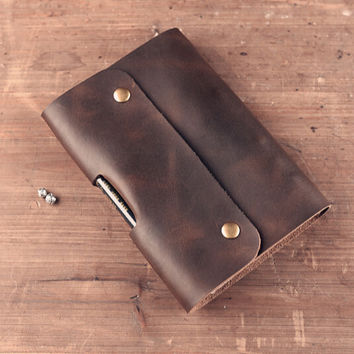 Logo Custom DIY Notebook Vintage A5 A6 Genuine Leather Diary Mini Planner Notepad Cowhide Diary Spiral Loose Leaf Journal