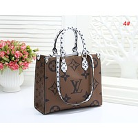 LV Louis Vuitton Fashion New Monogram Print Leather Shopping Leisure Handbag Shoulder Bag Women 4#
