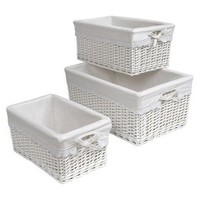 Basket 3-pc. Set with White Liners