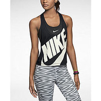 The Nike Luxe Cropped Speed Women's Running Tank Top.