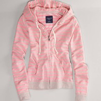 AE Striped Fleece Hoodie | American Eagle Outfitters