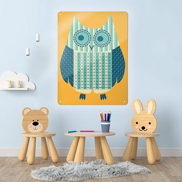 Wise Owl - Times Tables  - Large Magnetic Notice Board