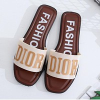 DIOR Popular Woman Casual Sandals Slipper Shoes White I13141-1
