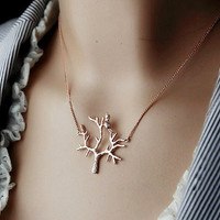 Fashion lark 14 k gold  clavicle necklace   from looback