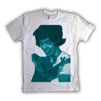 One Direction Harry Styles Blue Print 001 Tshirt x Tee x Shirt x Top - All Sizes Available
