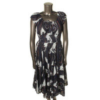 Chelsea & Theodore Womens Cotton Printed Casual Dress
