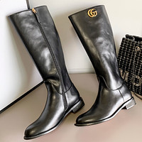 GUCCI GG Fashion Women's Leather Booties