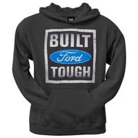 Ford - Built Tough Stamp Pullover Black Hoodie