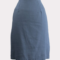 Lola Chambray Pencil Skirt