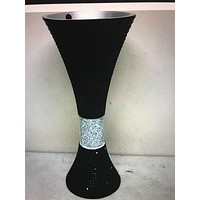 Ok lighting Daimond Collection Vase, Black,21.75
