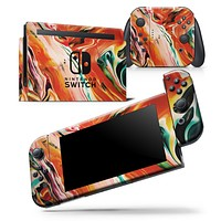 Blurred Abstract Flow V26 - Skin Wrap Decal for Nintendo Switch Lite Console & Dock - 3DS XL - 2DS - Pro - DSi - Wii - Joy-Con Gaming Controller