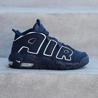 spbest NIKE - Boys - GS Air More Uptempo - Blue/Gum