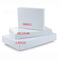 10Pcs Multi-Pack Embossed White Gift Box/Case of 100