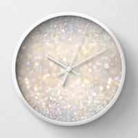 Glimmer of Light II (Ombré Glitter Abstract*) Wall Clock by soaring anchor designs ⚓   Society6
