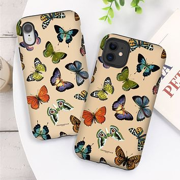 Nude Colorful Butterflies Tough Phone Case