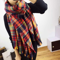 Warm Winter Blanket Scarf Cape