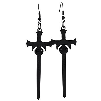 Restyle Moon Swords Earrings Distressed Gothic Witchy Occult Earrings