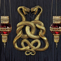 Park Avenue Collection Egyptian Infinity Cobra Twins Plaque